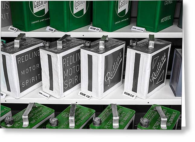 Castrol Green Greeting Card by Chris Smith