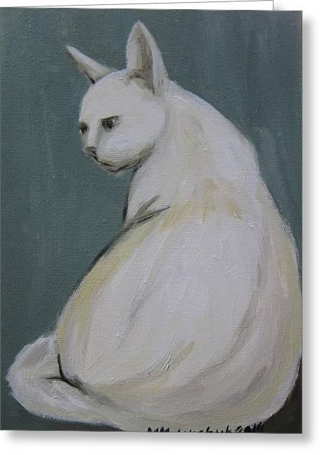 Cat 2014 Greeting Card by Maria Melenchuk