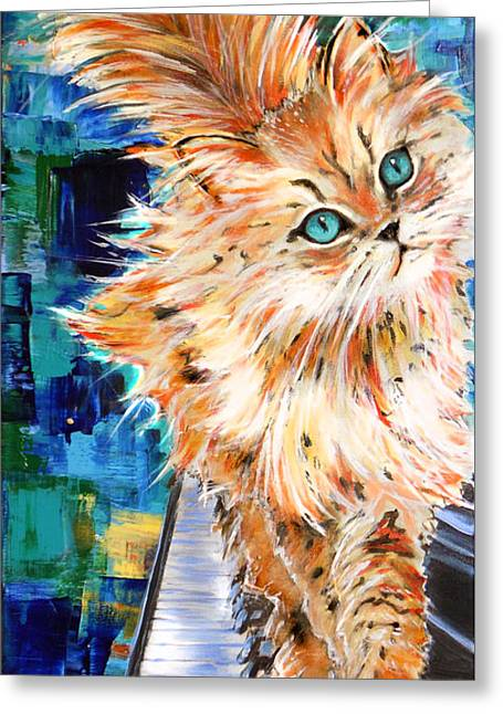 Cat Orange Greeting Card