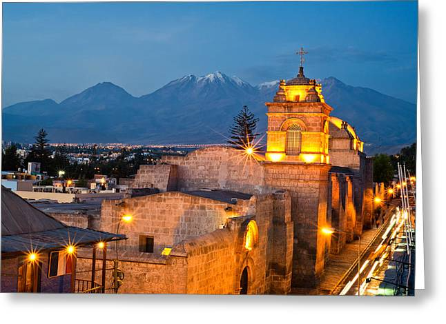 Catalina Convent Arequipa Greeting Card by Ulrich Schade