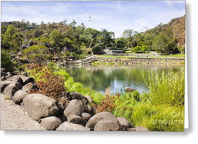 Cataract Gorge Basin Chairlifts In Launceston Greeting Card