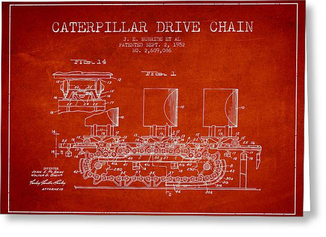 Caterpillar Drive Chain Patent From 1952 Greeting Card