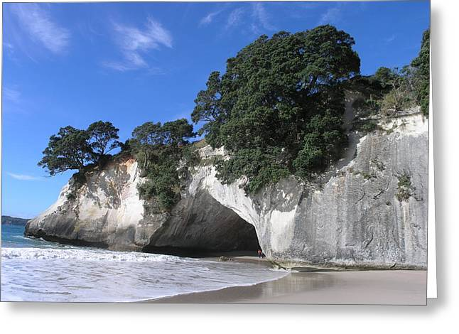 Cathedral Cove Greeting Card by Christian Zesewitz