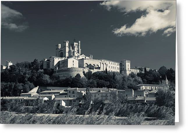 Cathedral In A Town, Cathedrale Greeting Card by Panoramic Images