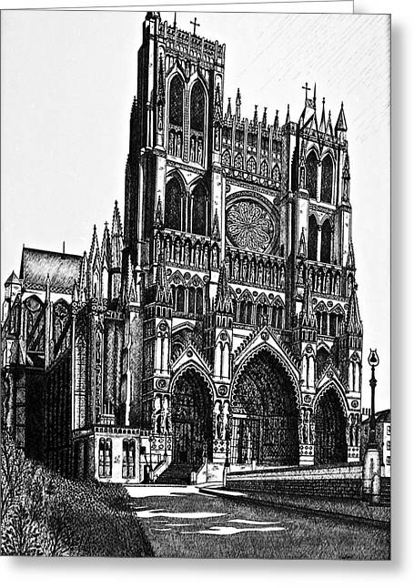 Cathedral Greeting Card by Lori Miller