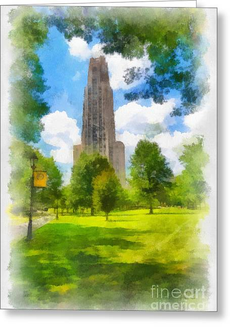 Cathedral Of Learning University Of Pittsburgh Greeting Card