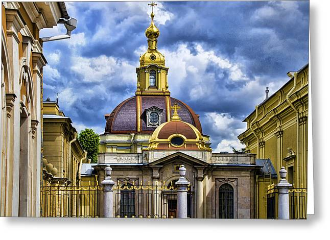 Cathedral Of Saints Peter And Paul - St. Petersburg Russia Greeting Card