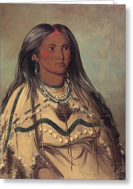 Catlin Mandan Woman, 1832 Greeting Card by Granger