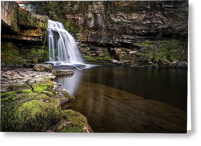 Cauldron Falls West Burton Greeting Card by Chris Frost