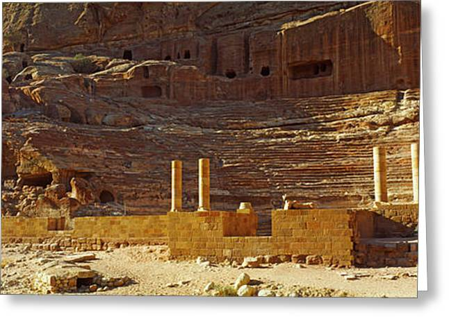 Cave Dwellings, Petra, Jordan Greeting Card by Panoramic Images