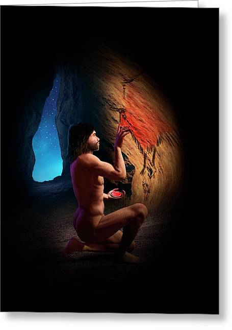 Cave Painting Greeting Card by David Gifford