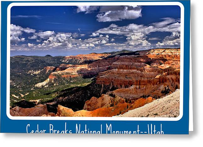Cedar Breaks Nm Greeting Card