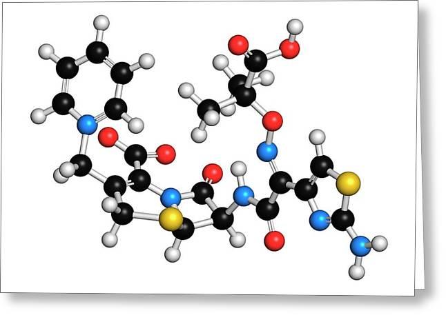 Ceftazidime Cephalosporin Antibiotic Drug Greeting Card by Molekuul