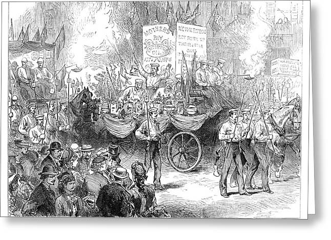 Centennial Parade, 1876 Greeting Card
