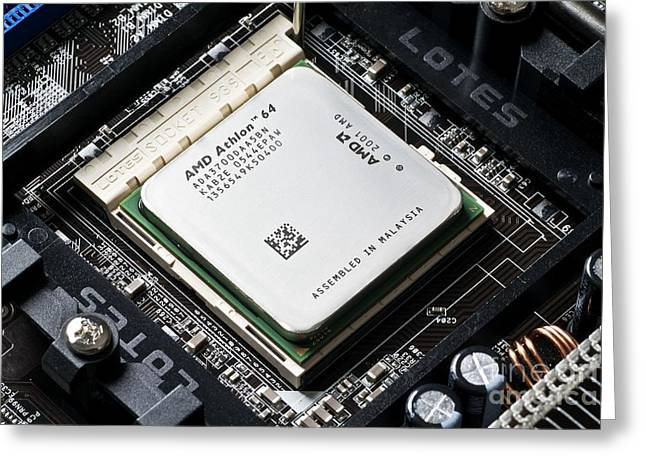 Central Processing Unit Greeting Card