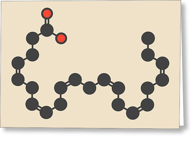Cervonic Acid Molecule Greeting Card by Molekuul