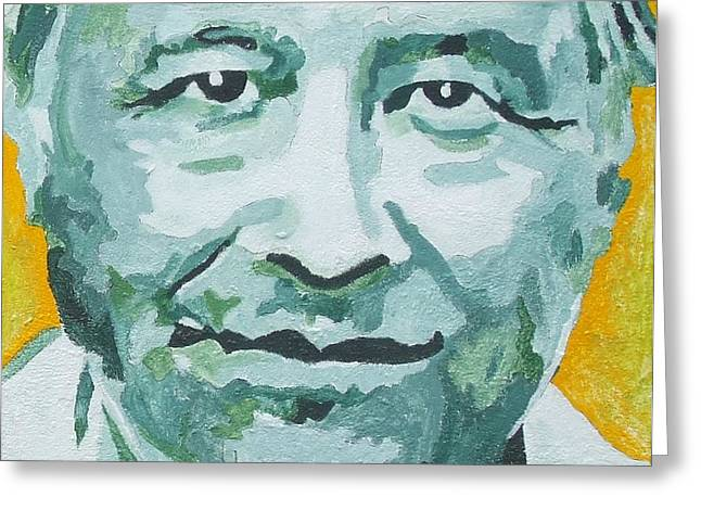 Cesar Chavez Greeting Card by Randy Segura