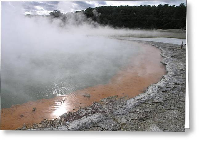 Greeting Card featuring the photograph Champagne Pool by Christian Zesewitz