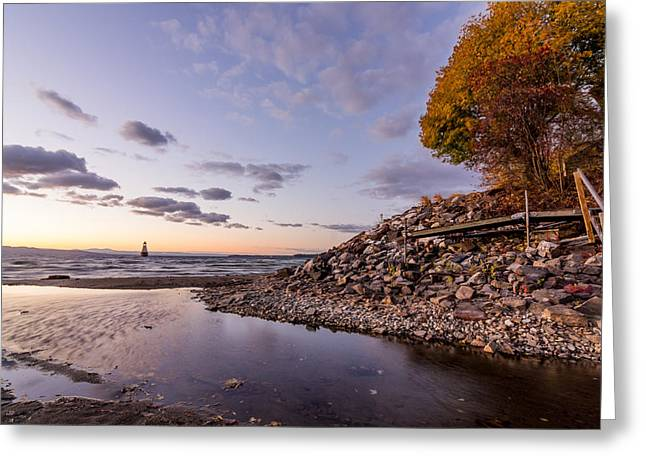 Champlain Twilight Greeting Card
