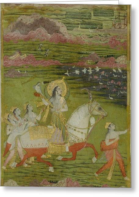 Chand Bibi Hawking Greeting Card by Celestial Images