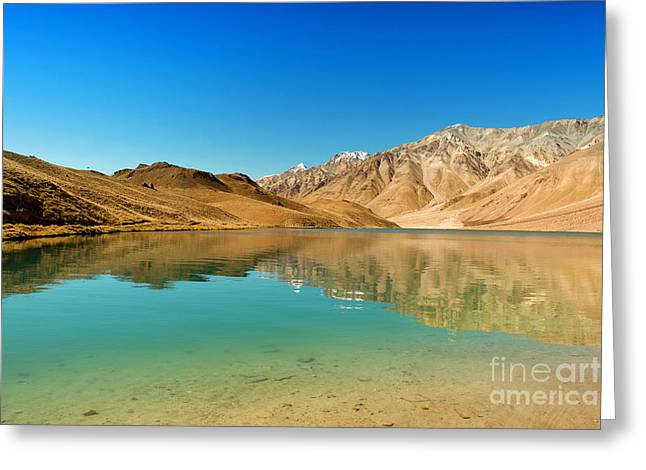 Chandratal Lake Greeting Card