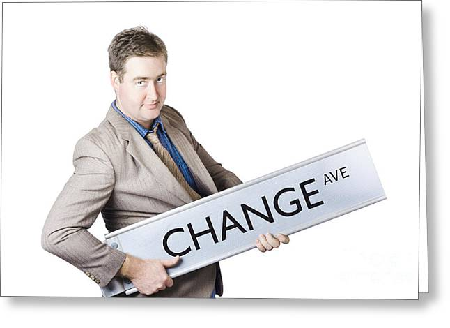 Change Ave. Business Improvement And Evolution Greeting Card