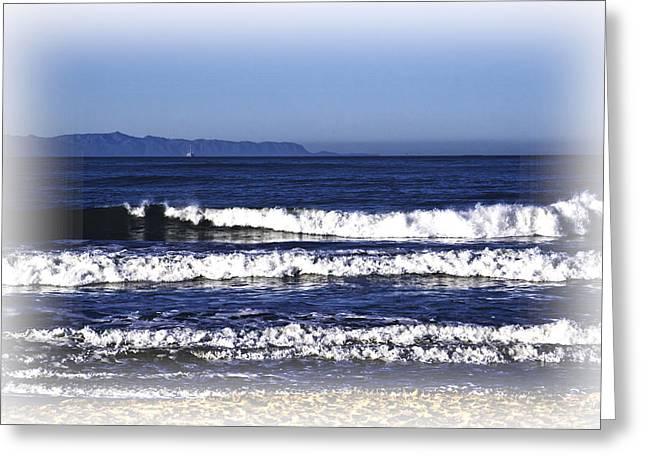 Greeting Card featuring the photograph Channel Islands View by William Havle