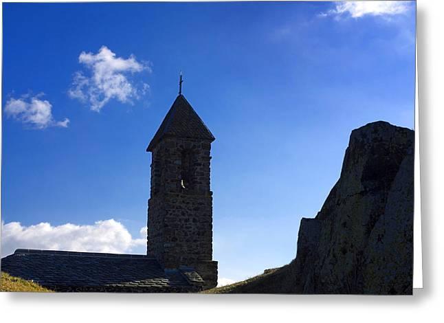 Chapel. Auvergne. France Greeting Card by Bernard Jaubert