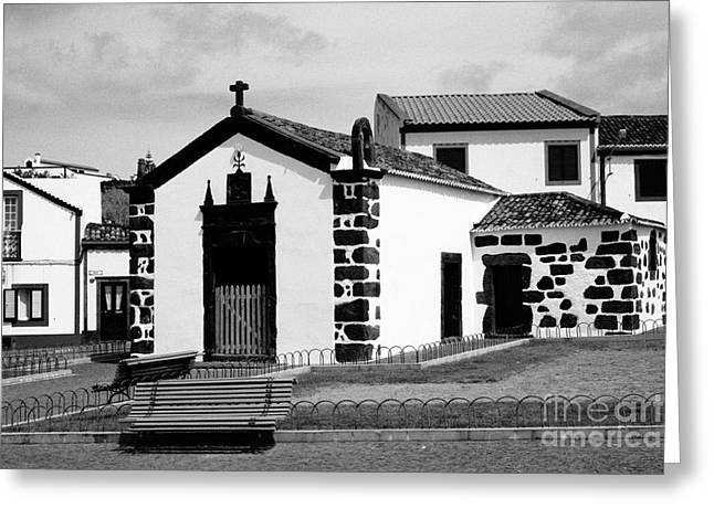 Chapel In Azores Islands Greeting Card by Gaspar Avila