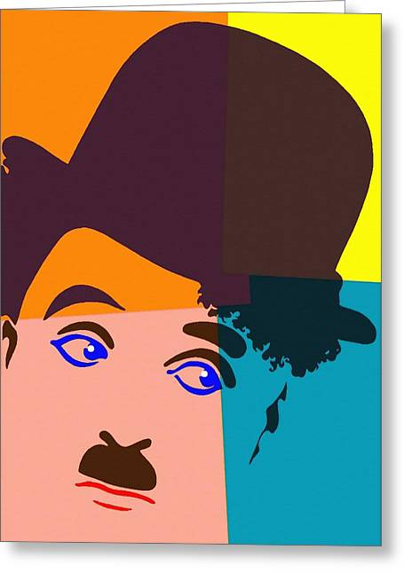 Charles Chaplin Charlot Greeting Card by Art Cinema Gallery