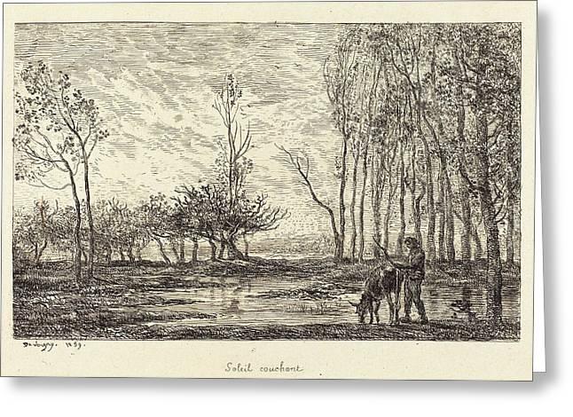 Charles-françois Daubigny French, 1817 - 1878 Greeting Card by Quint Lox