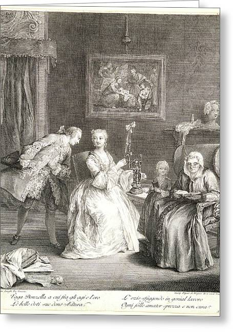 Charles Joseph Flipart French, 1721-1797 After Pietro Greeting Card