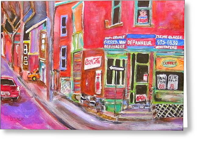 Charlevoix Depanneur Greeting Card by Michael Litvack