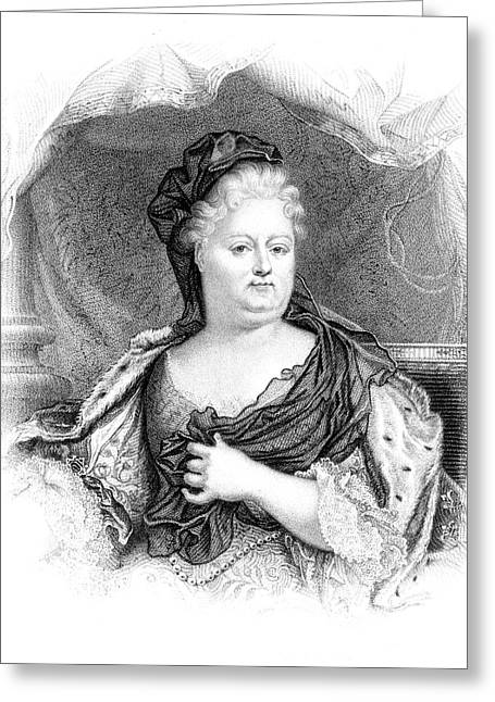 Charlotte-elisabeth Duchess Of Orleans Greeting Card by Mary Evans Picture Library