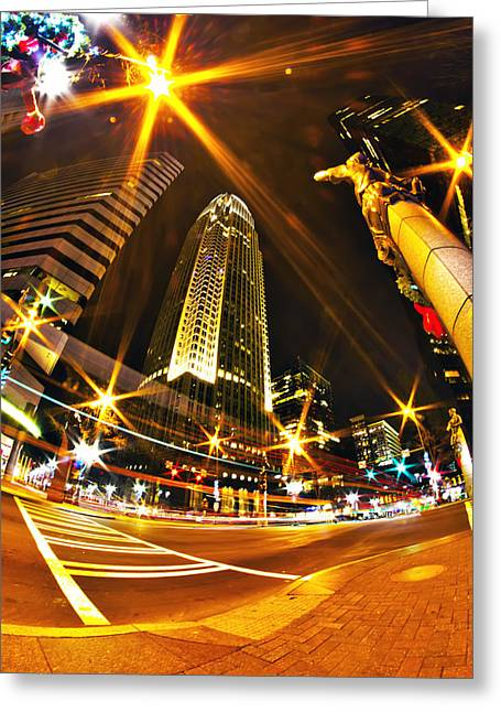 Charlotte Nc Usa  Nightlife Around Charlotte Greeting Card