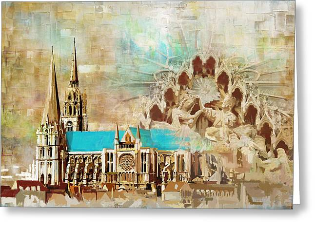 Chartres Cathedral Greeting Card