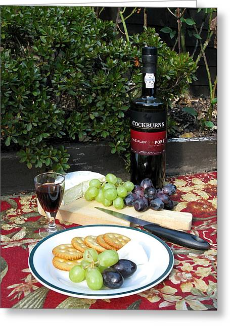 Greeting Card featuring the digital art Cheese And Port by Helene U Taylor