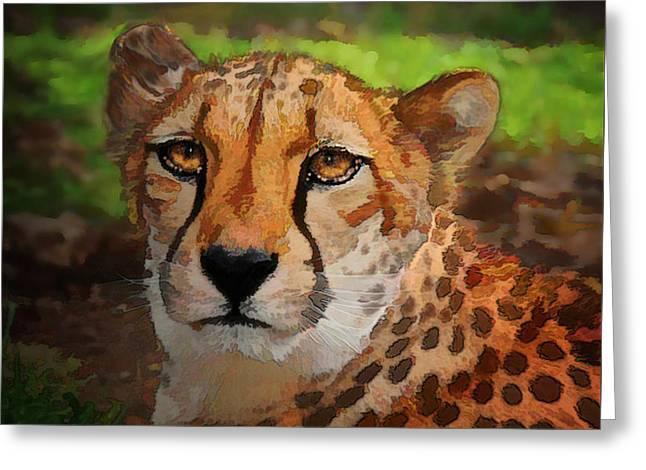 Cheetah Mama Greeting Card