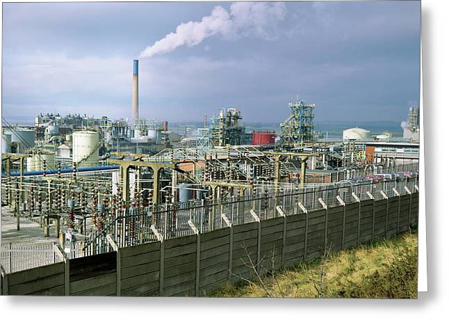 Chemical Works Greeting Card by Robert Brook/science Photo Library
