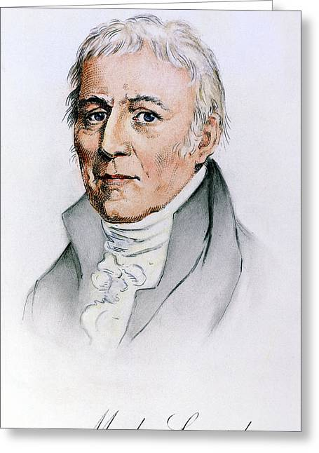 Chevalier De Lamarck (1744-1829) Greeting Card by Granger