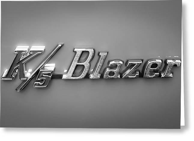 Chevrolet K5 Blazer Emblem Greeting Card by Jill Reger