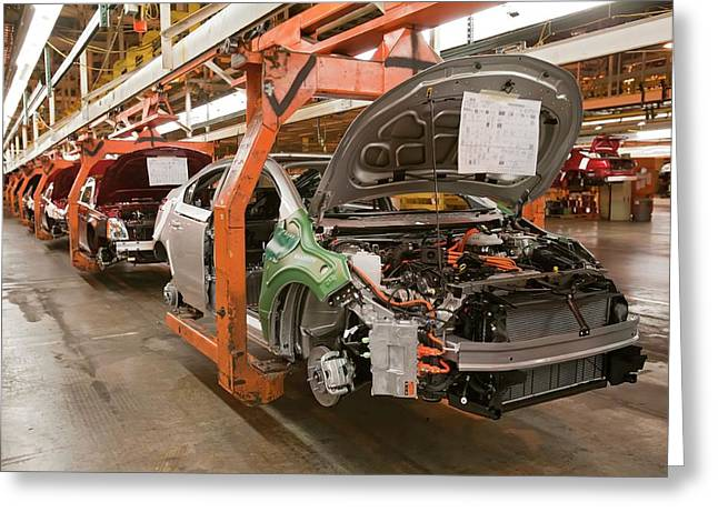 Chevrolet Volt Assembly Line Greeting Card