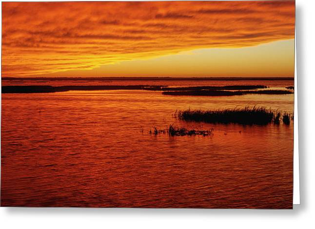 Cheyenne Bottoms Sunset Greeting Card