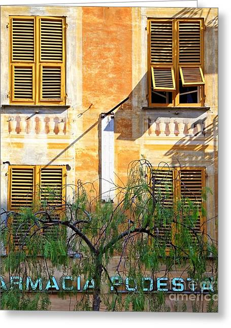 Chiavari Windows Greeting Card by Kate McKenna