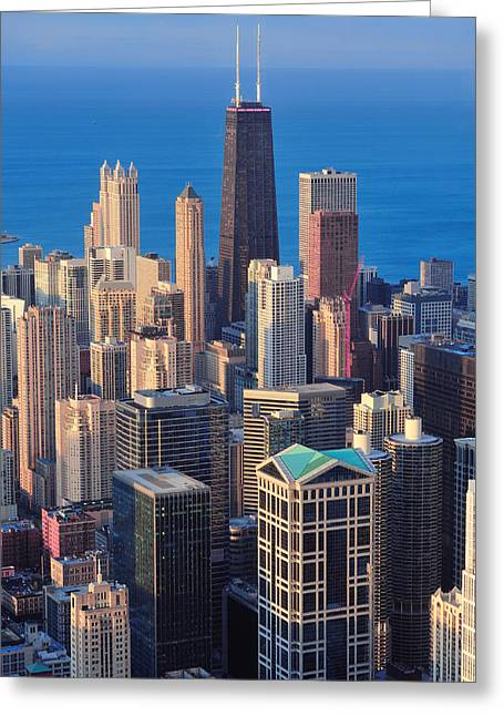 Chicago Aerial View Greeting Card