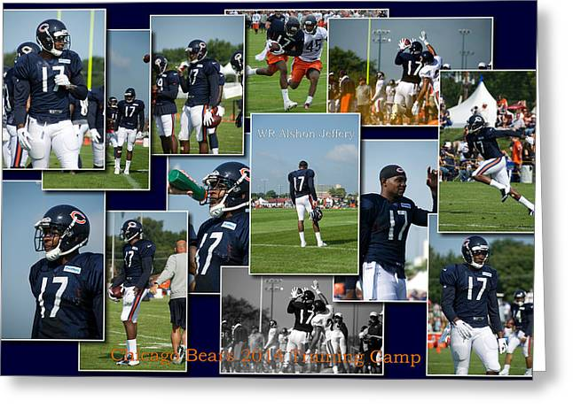 Chicago Bears Wr Alshon Jeffery Training Camp 2014 Sc Greeting Card