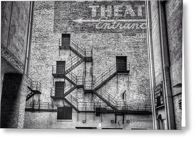 Chicago Theatre Alley Entrance Photo Greeting Card by Paul Velgos