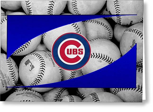 Chicago Cubs Greeting Card by Joe Hamilton