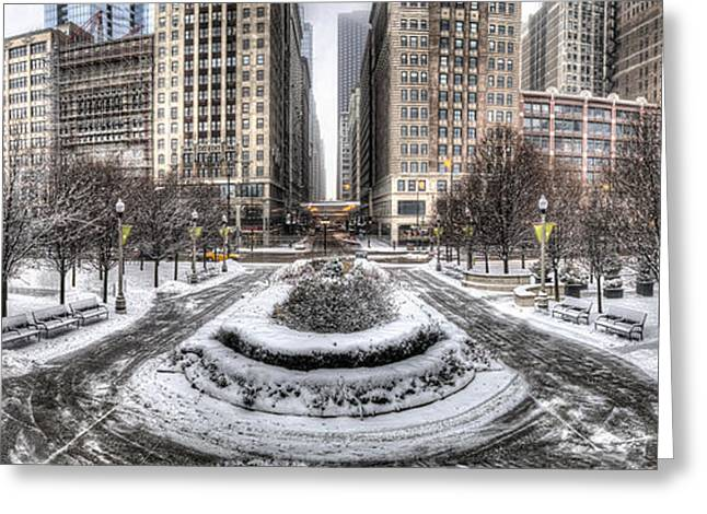 Chicago In Winter Greeting Card by Twenty Two North Photography