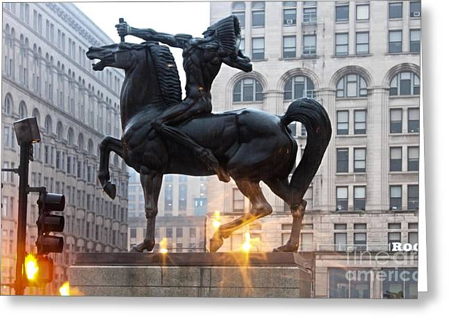 Chicago Indian Statue Greeting Card